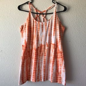 OP Orange Tie-Die Tank, Size XL